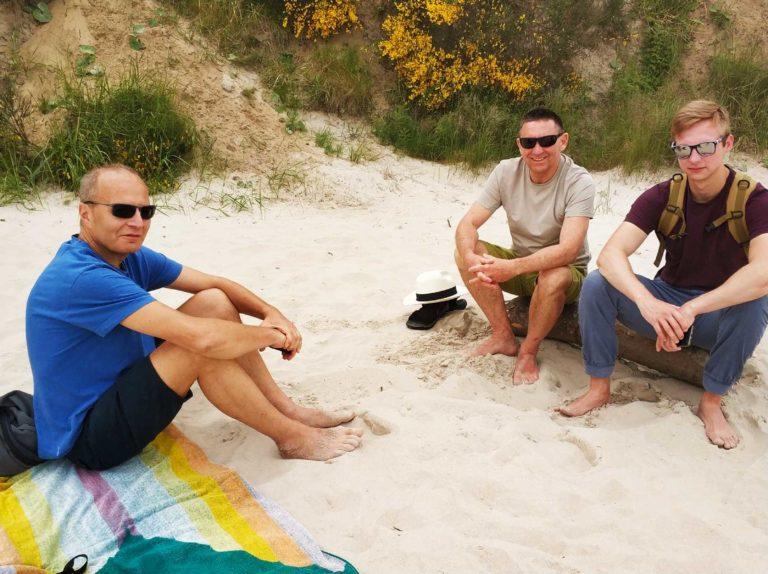 Czasem, to nawet dało się usiąść na plaży...